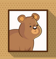 cute bear frame picture vector image