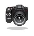 Cute cartoon DSLR or digital camera vector image