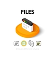 Files icon in different style vector image