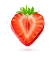 Halftone strawberry vector image