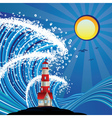 Lighthouse in the Sea3 vector image