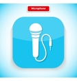 Microphone App Icon Flat Style Design vector image