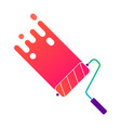 painting roller with colorful paint vector image