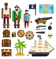 Pirate symbols vector image