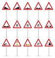 road sign color art vector image