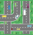 Top view highway traffic in rush hour poster vector image