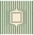 Wooden frame on striped wallpaper vector image