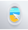 View from airplane Window plane Vacation vector image