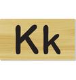 wooden letter K vector image vector image