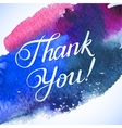 THANK YOU hand lettering custom handmade vector image