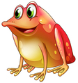 An orange frog with green eyes vector image vector image