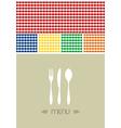 Menu design for restaurant or coffee shop vector image vector image