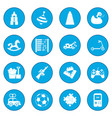 toys icon blue vector image
