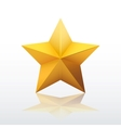 Gold five-pointed star vector image