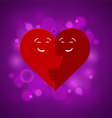 The two halves of the heart vector image