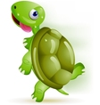 turtle running vector image