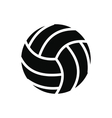 Volleyball ball black simple icon vector image