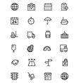 Global Logistics Line Icons 1 vector image