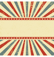 Circus style background vector image