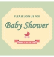 Baby shower invitation template vector image