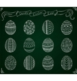 Chalk doodle Easter set with eggs vector image