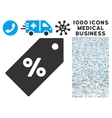 Discount Tag Icon with 1000 Medical Business vector image
