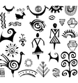 Etnic elements vector image
