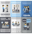 Meeting Poster Set vector image