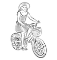 Small girl riding a bike vector image