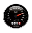 Calendar 2017 in speedometer car vector image