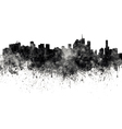 Brisbane skyline in black watercolor on white vector image