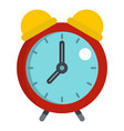 red alarm clock icon isolated vector image