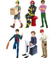 Men with different professions vector image