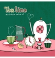 Teatime Party Card vector image