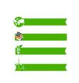 Eco icon ad tag ribbon banner eps10 vector image