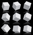 3d boxes vector image