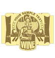 Roman legionary with a cup of wine vector image