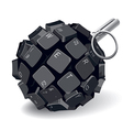 keyboard grenade vector image