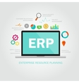 erp enterprise reource planning vector image