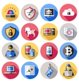 Internet Security Flat Icons Set vector image