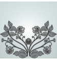 Background with black lace flowers For design of vector image