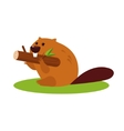 Cartoon Beaver with a Wood in vector image