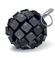 Keyboard grenade vector image