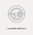 laundry service logo vector image