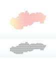 Map of Slovak Republic with Dot Pattern vector image