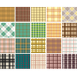 Plaid seamless patterns vector image