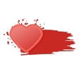 Red single isolated heart with watercolor style vector image