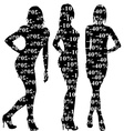 Sale discount women silhouettes vector image