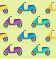 seamless pattern with scooters vector image