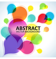 Spectrum abstract shapes background vector image
